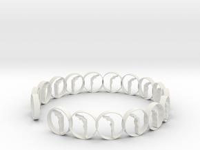 6 ring in White Natural Versatile Plastic