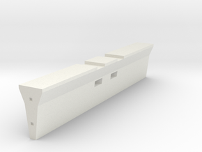 Concrete Barrier 1-18 in White Natural Versatile Plastic