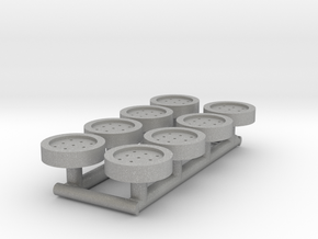 8 HO Scale Man Hole Covers in Aluminum