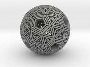 Soft-Boiled Geodesic (6cm) in Gray PA12