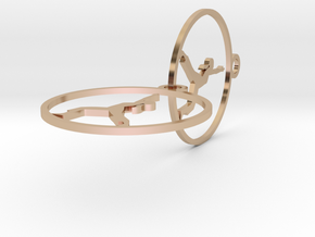 earring in 14k Rose Gold Plated Brass
