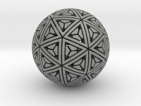 Soft-Boiled Geodesic (4.5cm) in Gray PA12