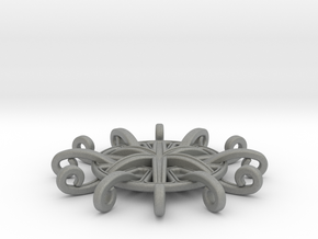 Tentacle Rosette Pendant in Gray PA12