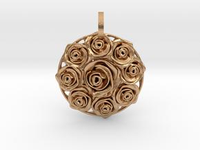 Flower Bouquet Pendant in Natural Bronze