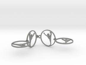 earrings in Gray PA12