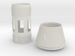 S-II & S-IVB 1:48 Larry Hollow in White Natural Versatile Plastic