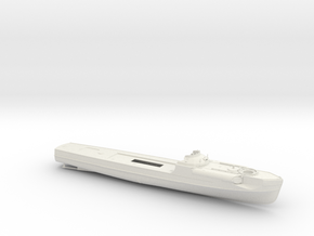 1/100 DKM Schnellboot S100 Hull in White Natural Versatile Plastic