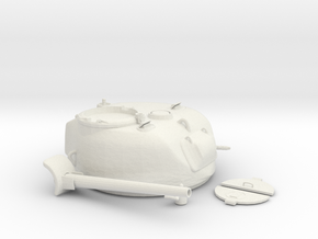 1-9th scale Sherman Turret parted in White Natural Versatile Plastic