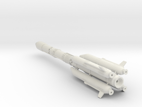 GSLV MKII ISRO 1:144 Scale in White Natural Versatile Plastic