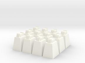 Trestle pier base  in White Processed Versatile Plastic