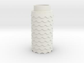 Scalloped in White Natural Versatile Plastic
