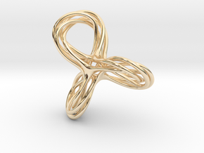 Cyclic Knot Sculpture in 14K Yellow Gold