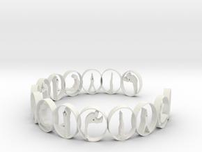 multi yoga pose ring in White Natural Versatile Plastic