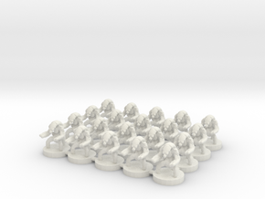 6mm Confederates Destroyer Bots X20 in White Natural Versatile Plastic