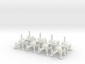 6mm DSD1 Spider Robot in White Natural Versatile Plastic