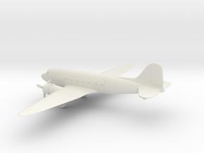 Douglas DC-3 in White Natural Versatile Plastic: 1:100