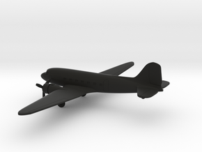 Douglas DC-3 in Black Natural Versatile Plastic: 1:285 - 6mm