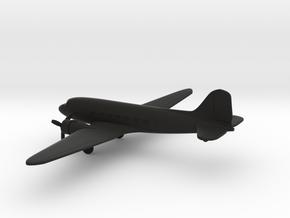 Douglas DC-3 in Black Natural Versatile Plastic: 1:285 - 6mm