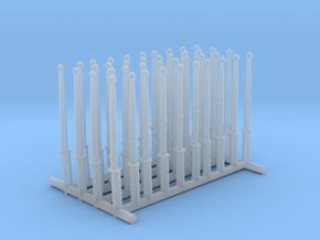 1/100 DKM Schnellboot S100 Deck Handrails Set in Smooth Fine Detail Plastic