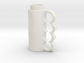 Brass Knuckle in White Natural Versatile Plastic
