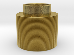 Threaded in Natural Brass