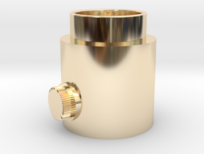 Knob Activator in 14k Gold Plated Brass