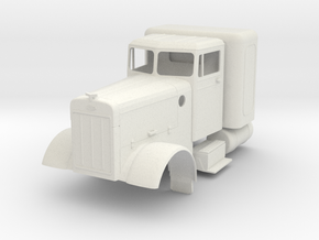 Peterbilt minus air cleaners, visor, headlights in White Natural Versatile Plastic