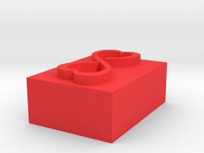Infinite Heart Tatoo in Red Processed Versatile Plastic