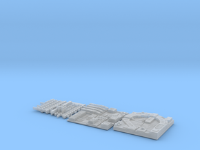 DIORAMA 1/350 DSTAR ENDOR STAND TILES in Smooth Fine Detail Plastic