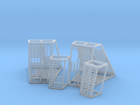 DIORAMA 1/350 DSTAR ENDOR STAND CAGES in Smooth Fine Detail Plastic