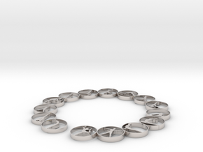 Bangle with 15 yoga poses 57.2 mmm in Platinum