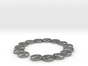Bangle with 15 yoga poses 54 mmm (1) in Gray Professional Plastic