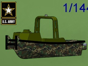 MKII Bridge Erection Boat in Green Processed Versatile Plastic: 1:144