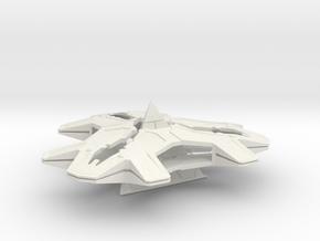 Stargate Goa'uld Hatak mothership 70mm in White Natural Versatile Plastic