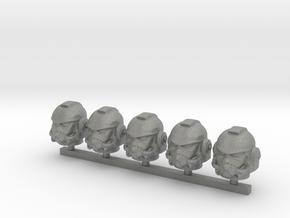 Marine_mkST_helmet_x5 in Gray PA12