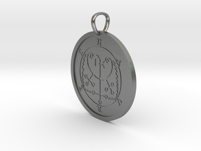 Haures Medallion in Natural Silver