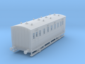 0-148fs-ner-n-sunderland-saloon-brake-conv-coach in Smooth Fine Detail Plastic