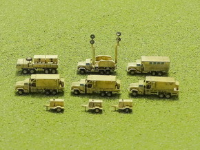 MiM-104 Patriot SAM Missile Battery Trucks 1/220 in Smooth Fine Detail Plastic