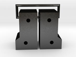 Tamiya Blackfoot Steering Knuckles  in Matte Black Steel