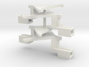 #00Q Kurzkupplungsdeichsel 01 (2 Paar) in White Natural Versatile Plastic