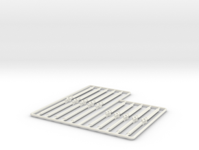 2 Blades rotors sprue (36 ft and 52 ft) 1/285 in White Natural Versatile Plastic