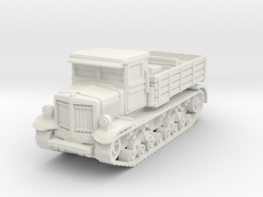 Voroshilovets tractor scale 1/56 in White Natural Versatile Plastic