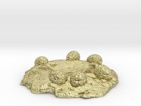 NEST STAND for Dinosaur Egg Ring Box in 18k Gold Plated Brass