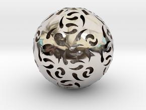 Hollow Sphere 1 in Platinum