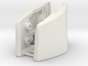 G930, G430 (R&L Outside Bracket Joined) in White Natural Versatile Plastic
