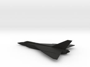 Avro Canada CF-105 (w/o landing gears) in Black Natural Versatile Plastic: 6mm