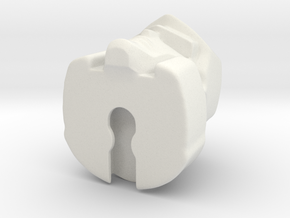 Megatron 22mm draaischijf systeem POTP in White Natural Versatile Plastic