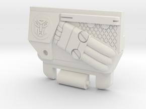RID Optimus Prime Chest for CW Hotspot/PotP Infern in White Natural Versatile Plastic