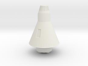 Miniature NASA Aurora 7 Spacecraft - 5cm in White Natural Versatile Plastic