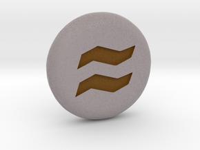 Runescape Earth Rune in Natural Full Color Sandstone